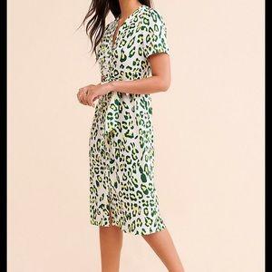 Anthropologie/Kourt Leopard Dress